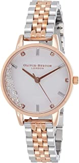 Olivia Burton Women's White & stone Dial stainless steel & Ionic Rose Gold Plated steel Watch - OB16EX134