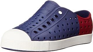 Native Jefferson Block Child Slip On Sneaker (Toddler/Little Kid), Regatta Blue/Shell White/Block, 4 M US Toddler
