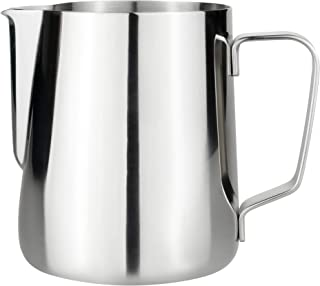 MMG Milk Frothing Pitcher 350ml (12oz) Steaming Pitchers Stainless Steel Milk Coffee Cappuccino Latte Art Barista Steam Pi...