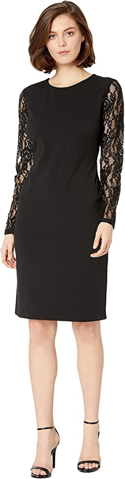 130H Luxe Tech Crepe Keanu Long Sleeve Day Dress