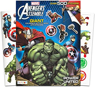 Marvel Avengers Coloring & Activity Book with Stickers ~ Over 500 Stickers ~ Captain America, Iron Man, Hulk, Thor, and More!
