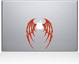 """The Decal Guru Demon Wings MacBook Decal Vinyl Sticker  - 12"""" Macbook - Orange (1048-MAC-12M-P)"""