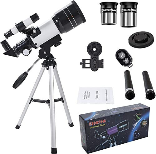 discount Monocular online sale Telescopes for Astronomy Beginners, 150x Magnification, Eyepieces, Tripod, outlet online sale Finder Scope, Phone Camera Holder, Camera Controller, Multi-Coated Optics Refracting Telescope for Kids and Adults outlet online sale