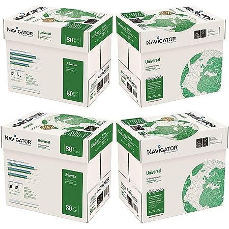 Navigator Universal Carta Premium per ufficio, Formato A4, 80 gr, Confezione da 20 risme da 500 Fogli