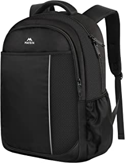 Middle School Backpack, Student Backpack Laptop Bag for Men Women Boys Girls, Cute Lightweight Water-Resistant Slim Computer Bookbag for Middle High School Student, Fits 14 inch Laptop - Black