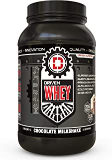Driven WHEY- Grass Fed Whey Protein Powder: Delicious, Clean Protein Shake- Improve Muscle Recovery with 23 Grams of Prote...