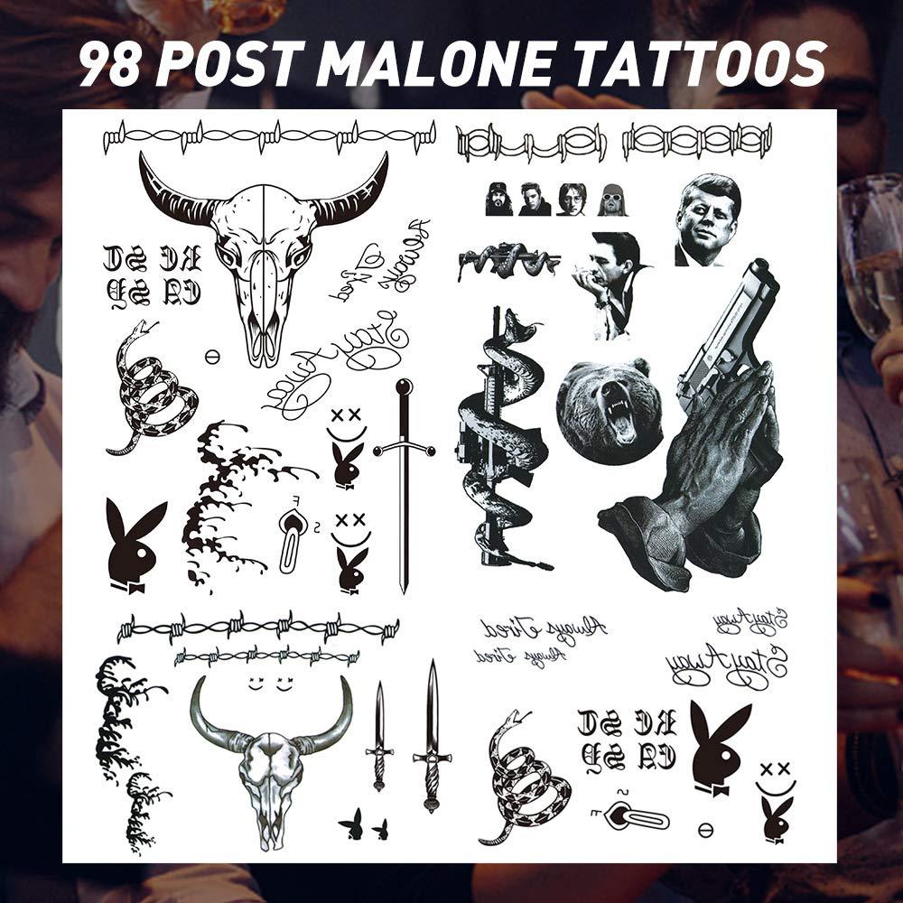 Face Tattoo,Halloween Temporary Tattoos Sticker, Halloween Costume Accessories,Parties Tattoos,5 Sheets Face Neck Hands Arm Tattoos Sticker.