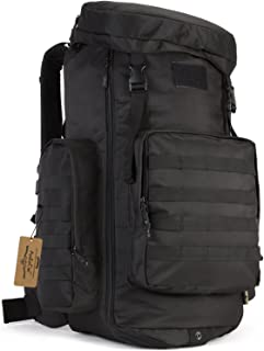 ArcEnCiel Hiking Daypacks 70-85L Tactical Travel Backpack MOLLE Rucksack - Rain Cover Included