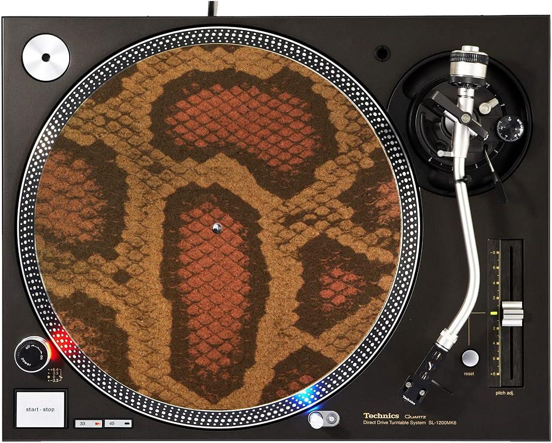 DJ Turntable Premium Cork Slipmat Skin - Pattern Pink Snake Jacksonville Mall Super-cheap