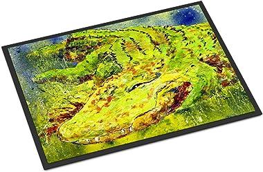 """Caroline's Treasures 8390MAT Alligator Indoor or Outdoor Doormat, 18"""" x 27"""", Multicolor"""