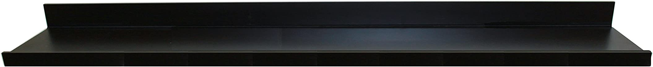 InPlace Shelving 9084684 72 in W x 4.5 in D x 3.5 in H Floating Shelf with Picture Ledge, Black