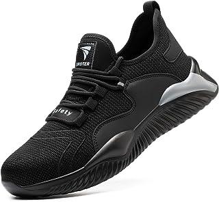 YISIQ Chaussures de Sécurité Homme Femmes Embout Acier Protection Confortable Léger Respirante Chaussures de Travail Anti-...