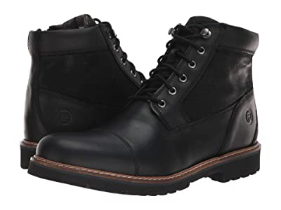 Rockport Marshall Rugged Cap Toe (Black) Men