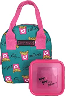 Betsey Johnson Fri-Yay French Fries Insulated Lunch Tote & Snap Top Food Container, Multi