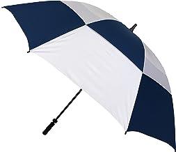 Smati Parapluie de Golf idéal Pour la randonnée - Résistant au Vent Diamètre 150 cm Bleu et Blanc Stick Umbrella, 110 cm, Blue (Bleu)