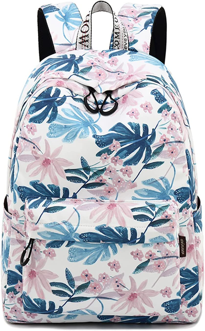Floral School Backpack for Girls Travel College 宅配便送料無料 Bookbags Backpac 新作 人気