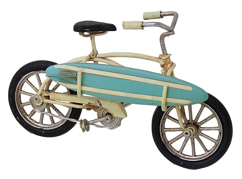 アーティストバイバイ留め金自転車モチーフ ビーチクルーザー 自転車 ミニチュア 模型 自転車インテリア (ホワイト)