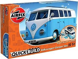 Airfix Quickbuild Volkswagen Light Blue Camper Van Brick Building Model Kit