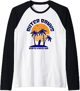 Outer Banks Shirt North Carolina Beach Surfing Souvenir Gift Raglan Baseball Tee