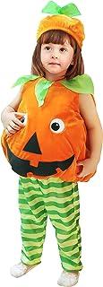 IKALI Bébé Citrouille Costume Enfant en Bas âge Enfants Body Unisexe Tenues pour Halloween déguisement fête 3 pièces Costumes