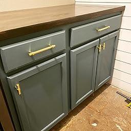 *10 Pack* Cosmas Cabinet Hardware Brushed Brass Euro Style Bar Pull #161-160BB