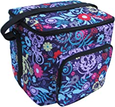 Two Lumps of Sugar Potluck Tote – Insulated Slow Cooker Carrier with Heat Resistant Interior and Optional Cooler Lining (Jubilee Flourish)