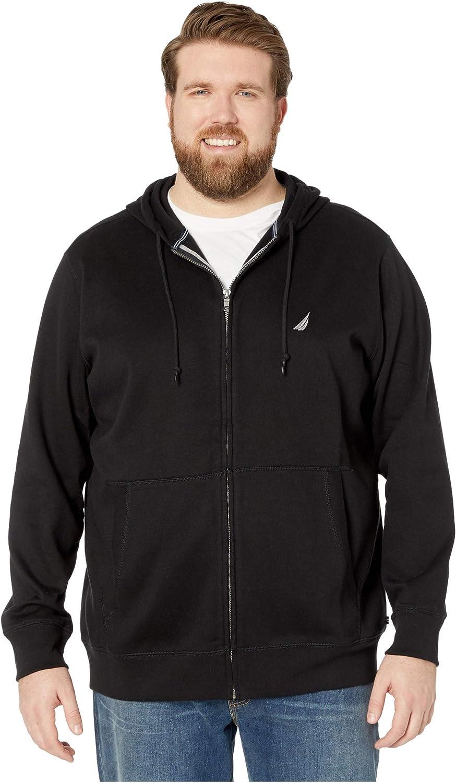 Nautica Men's Big and Tall Full-Zip Sweater Hoodie Sweatshirt