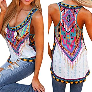9efd7e2632f Mosunx Women Summer Sleeveless Tank Tops Casual Vest Top Camisole Sport  Shirts Iregular Tee O-