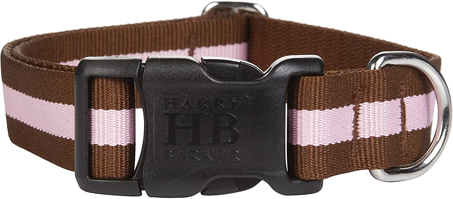 Harry Barker Eton Collar  Brown & Pink  Small  611 inch