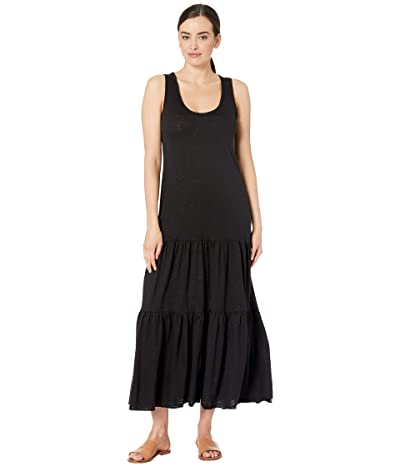 Lilla P Tiered Skirt Flame Modal Dress (Black) Women