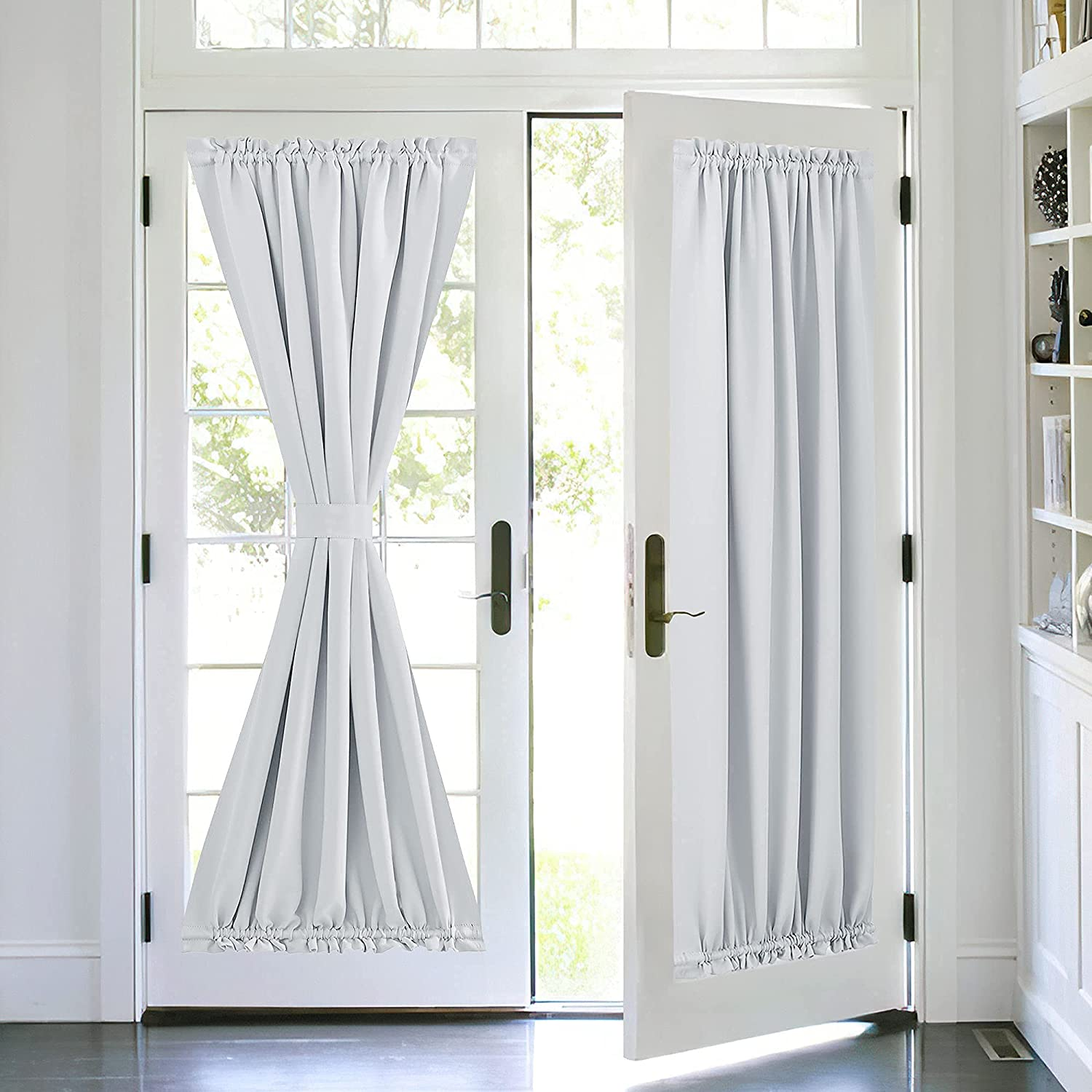PONY DANCE White Door Curtain - Window Treatments E Energy High 70% OFF Outlet material Solid