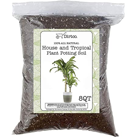 House Plant and Tropical Plant Potting Soil, Re-Potting Soil for All Types of Indoor House Plants, House Plant Re-Potting Soil, 8qt