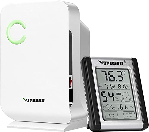 2021 VIVOSUN Small Space Mini Dehumidifier 2021 & Digital Indoor Thermometer and Hygrometer new arrival with Humidity Gauge outlet sale