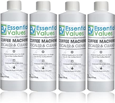 Essential Values Keurig Descaler (4 Pack), Universal Descaling Solution For Keurig, Delonghi, Nespresso And All Single Use, Coffee Pot & Espresso Machines