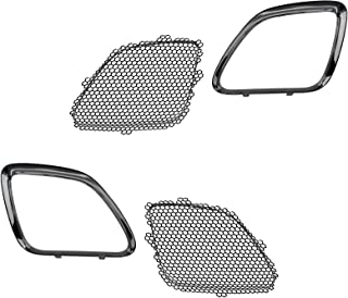 1A Auto Grille Mesh Inserts & Chrome Trim Upper Front Left LH & Right RH for Pontiac G6