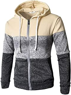 Jotebriyo Mens Longline Winter Zip Front Thicken Warm with Velvet Drawstring Hooded Sweatshirt