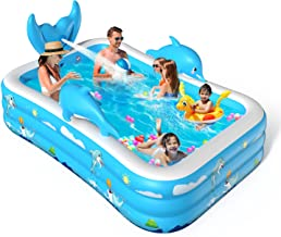 VOXON Inflatable Swimming Pool, Padding Pool Swim Centre Pools for Kids Adults Family Indoor Outdoor Garden Toys Game Abov...