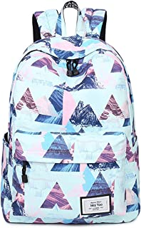 Girls School Backpack Waterproof Travel Bookbag School Bag Backpack for Teen Girls Women (Blue)