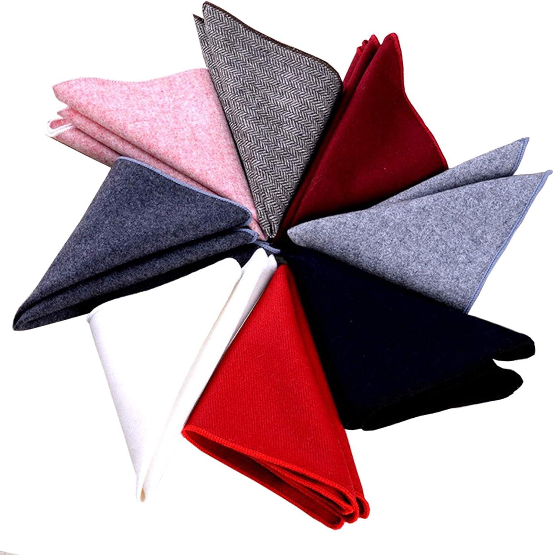 Men Pocket Squares Set, Mens Formal Suits Handkerchiefs For Wedding Party of 8 Pack SH5