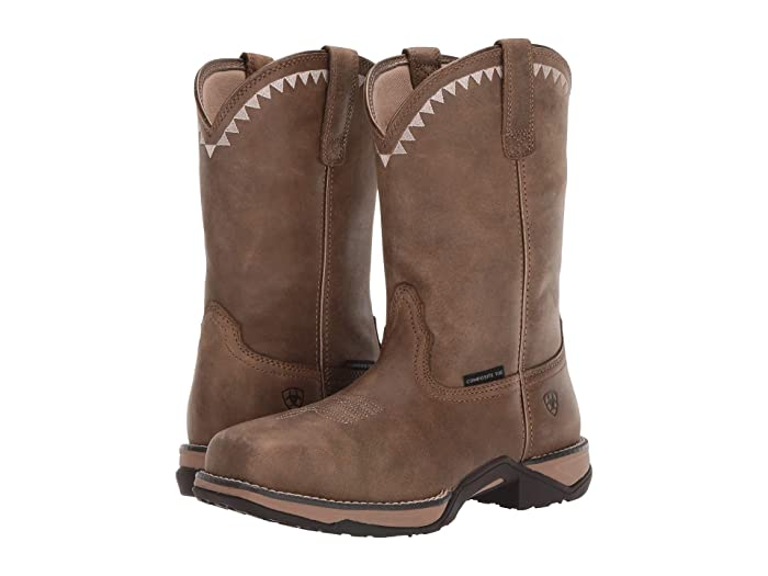 Ariat  Anthem Deco Composite Toe (Brown Bomber) Womens Work Boots