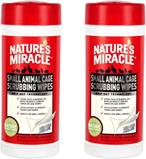 Nature's Miracle 60 Unidades pequeñas toallitas limpiadoras para Jaula de Animales