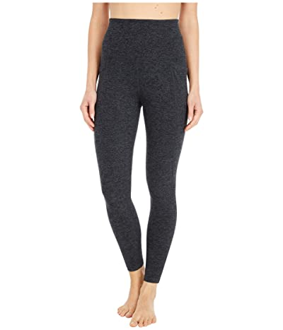 Beyond Yoga Spacedye High Waisted Pocket Midi Legging (Black/Charcoal) Women