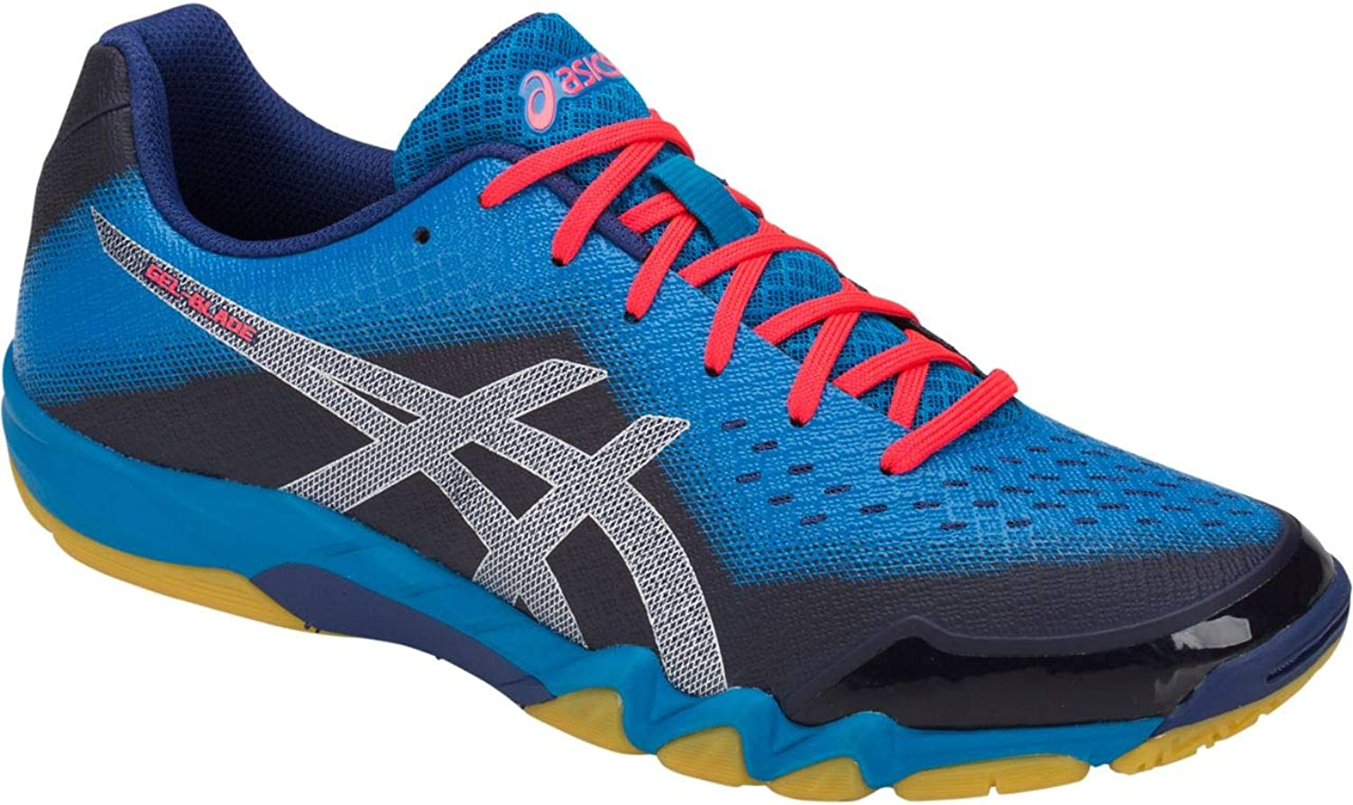 ASICS Gel Blade 6 Mens Indoor Court shoes (bluee Print Race bluee)