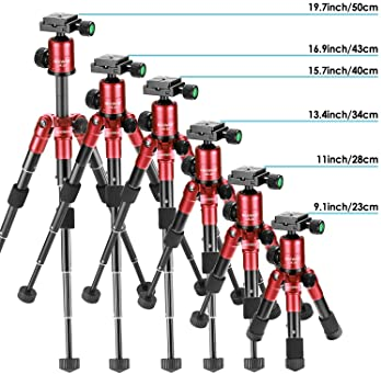 Neewer 20 inches/50 Centimeters Portable Compact Desktop Macro Mini Tripod with 360 Degree Ball Head,1/4 inches Quick...