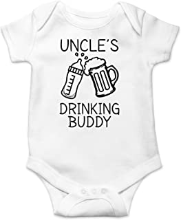 AW Fashions Uncle's Drinking Buddy - My Uncle is a Bad Influence - Cute One-Piece Infant Baby Bodysuit