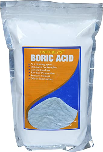 Unitedly's ® Boric Acid Powder 100% Pure for Killing Cockroahes,and for Multiples Purposes, Carrom Board Powder  Rice...
