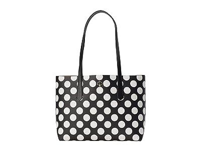 Kate Spade New York Molly Bikini Dot Small Tote (Black Multi) Handbags