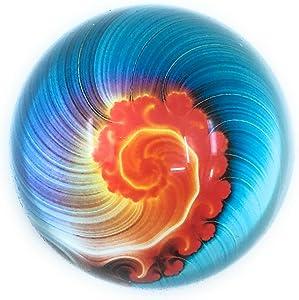 Swirl Art Under Glass Paperweight (Air)