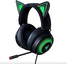Razer Kraken Kitty RGB USB Gaming Headset: THX 7.1 Spatial Surround Sound - Chroma RGB Lighting - Retractable Active Noise Cancelling Mic - Lightweight Aluminum Frame - for PC - Matte Black