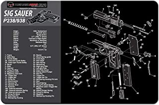 Ultimate Arms Gear Gunsmith and Armorer's Cleaning Work Tool Bench Gun Mat for Sig..